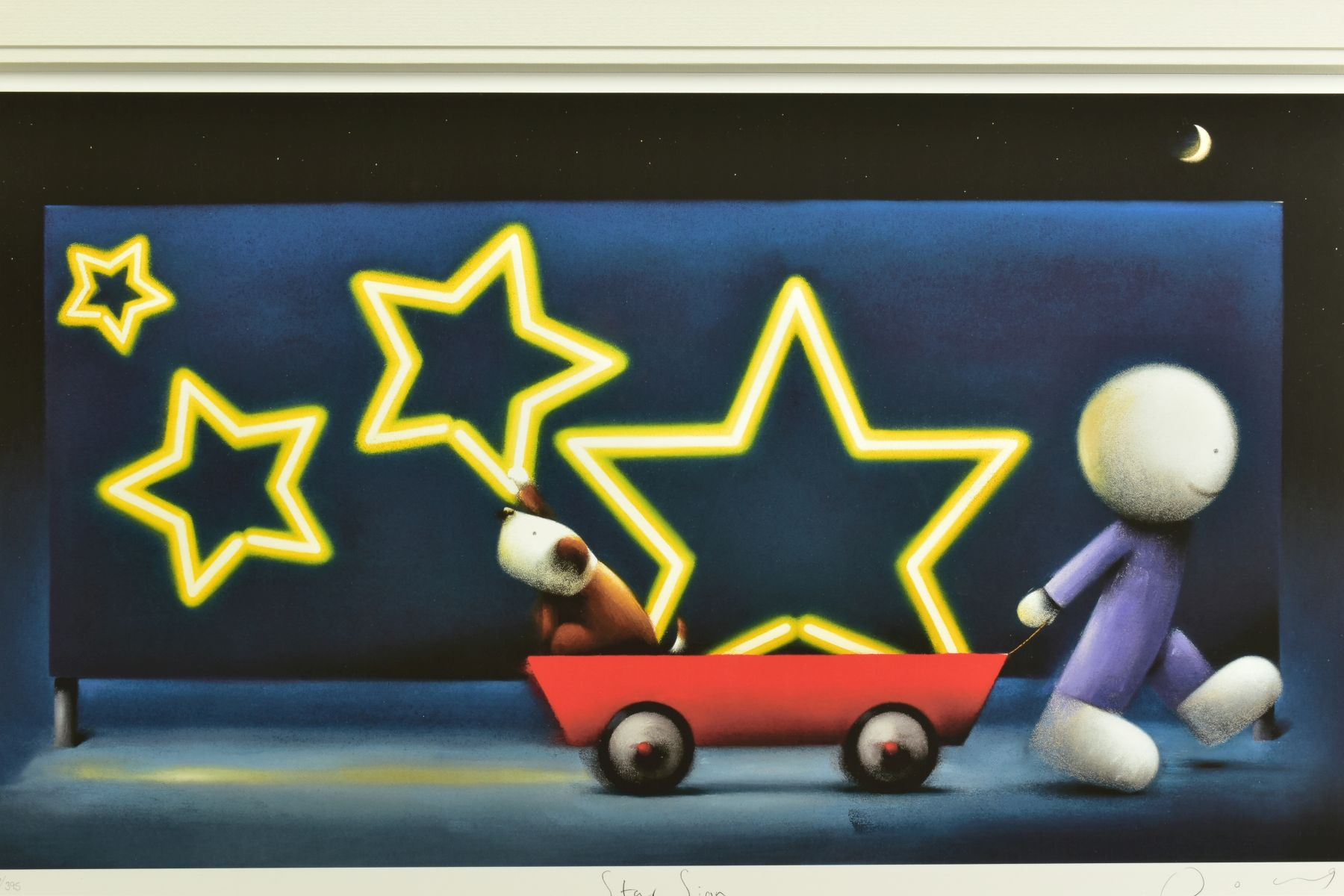 DOUG HYDE (BRITISH 1972), 'Star Sign', a boy pulling a Dog in a cart, 76/395, signed to lower margin - Image 2 of 6