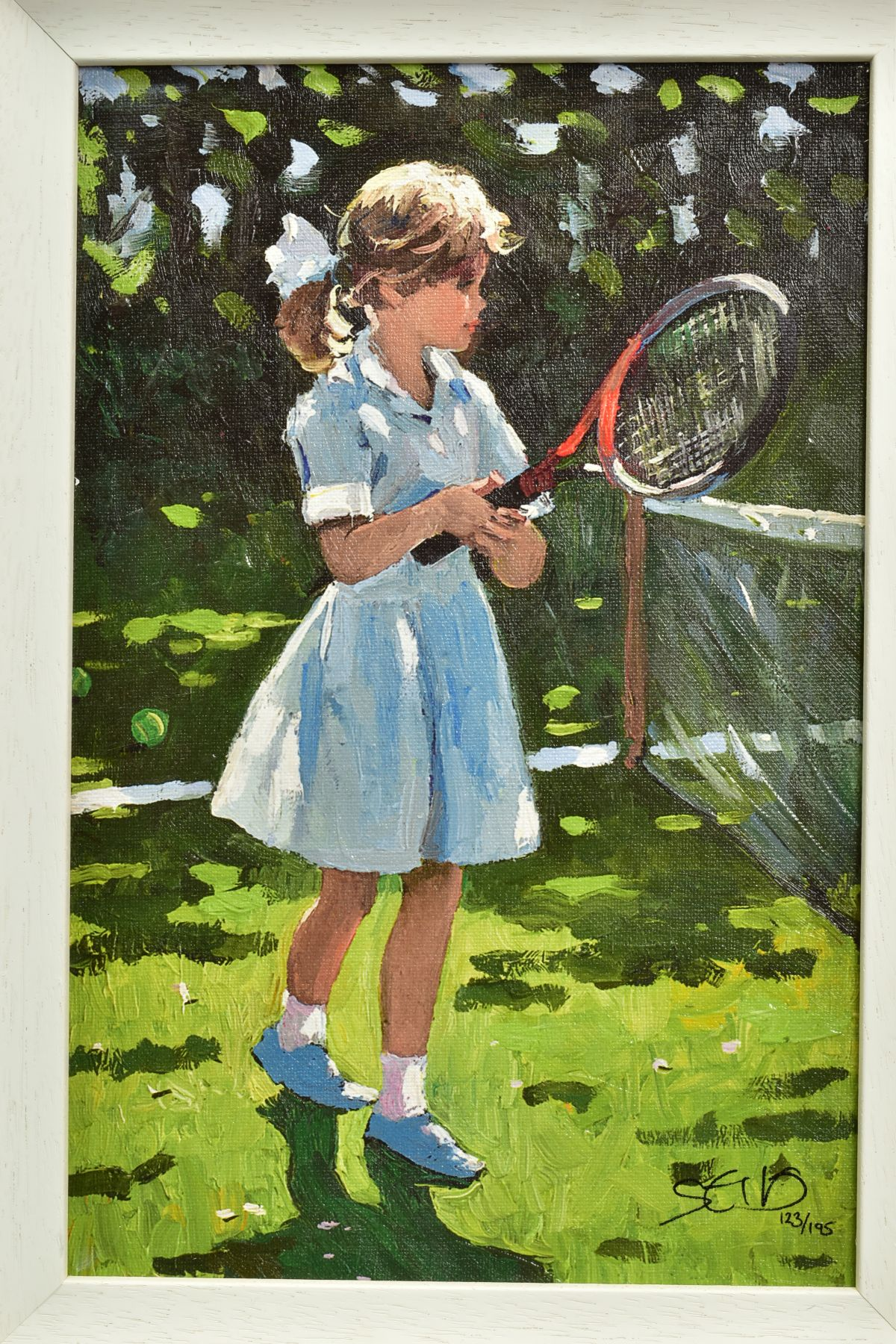 SHERREE VALENTINE DAINES (BRITISH 1959), 'Playful Times I', a Limited Edition print of a young - Image 2 of 7