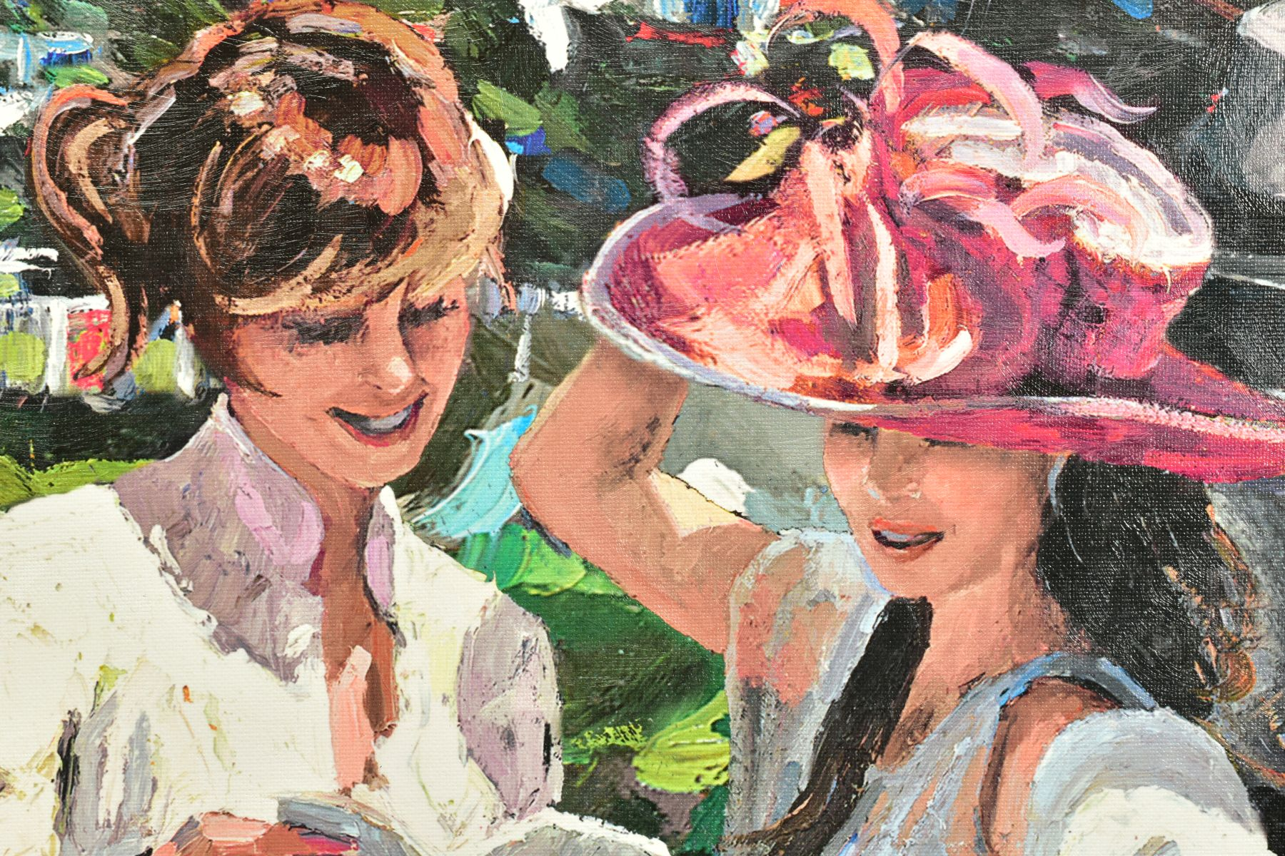 SHERREE VALENTINE DAINES (BRITISH 1959), 'Royal Ascot, Ladies Day II', a Limited Edition print, 60/ - Image 4 of 6