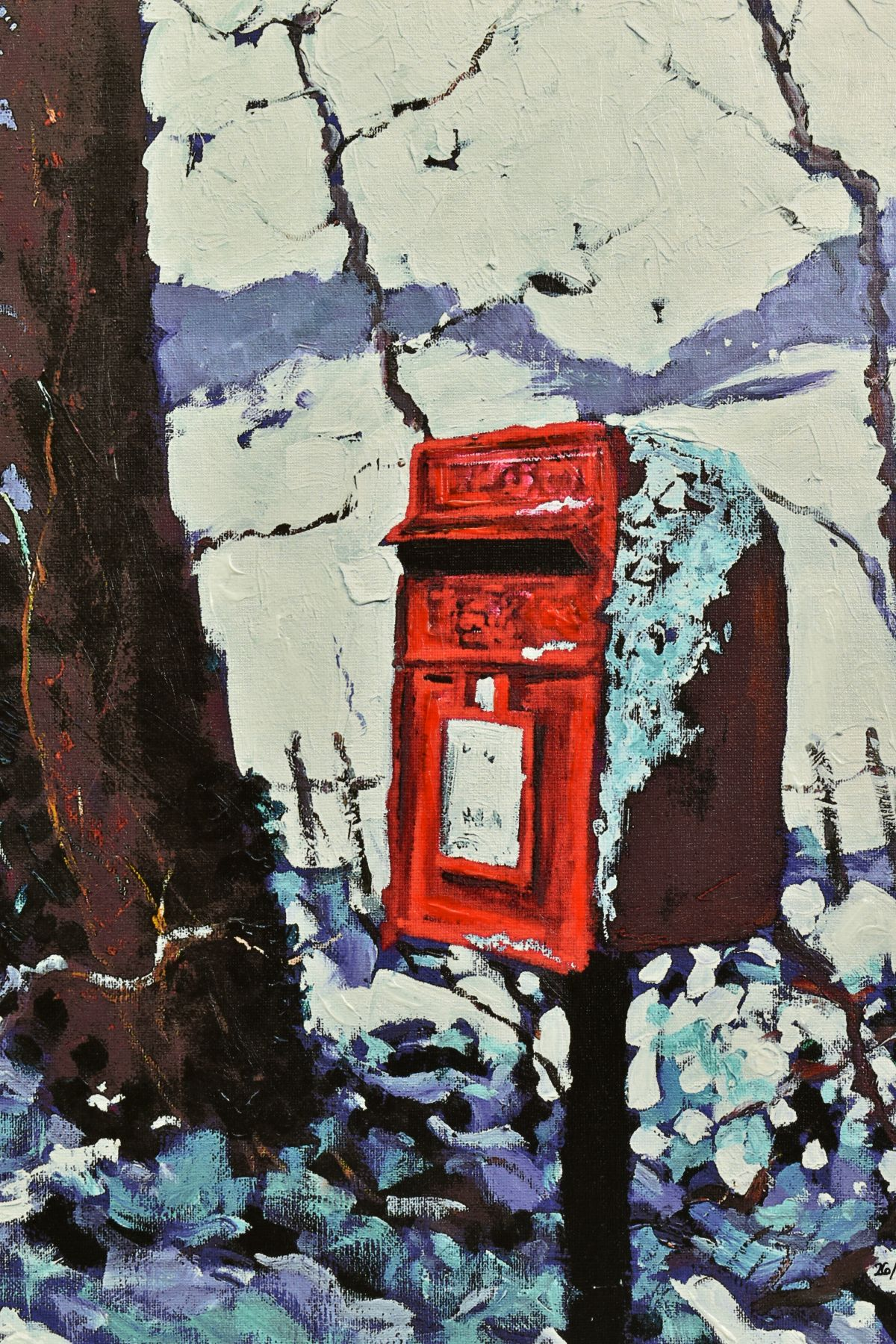 TIMMY MALLETT (BRITISH CONTEMPORARY), 'Snowy Post Box', a Limited Edition print, 26/195, signed - Image 2 of 5