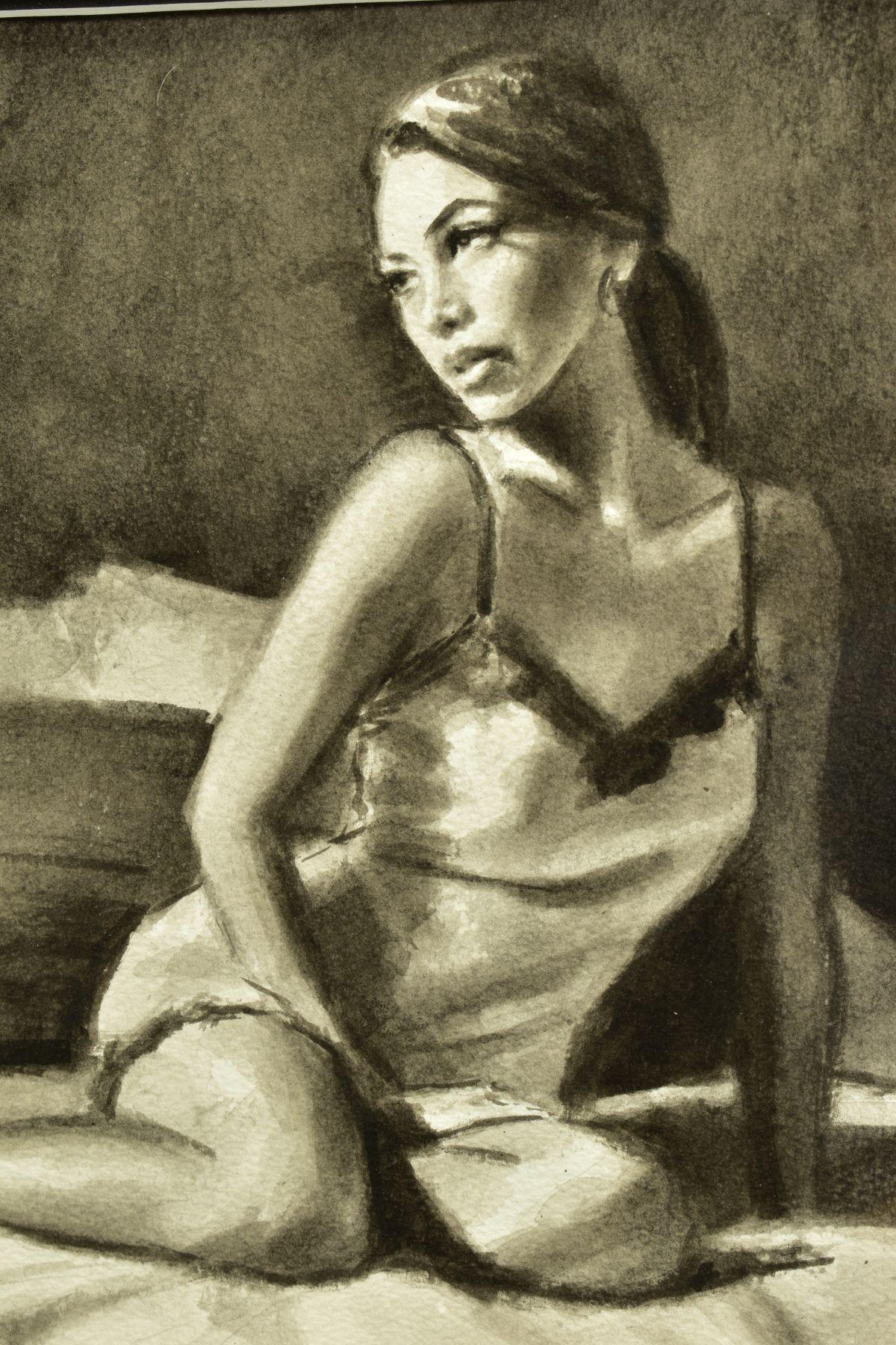 FABIAN PEREZ (ARGENTINA 1967), 'Andlucia VI', a portrait study of a scantily clad female figure, - Image 3 of 7