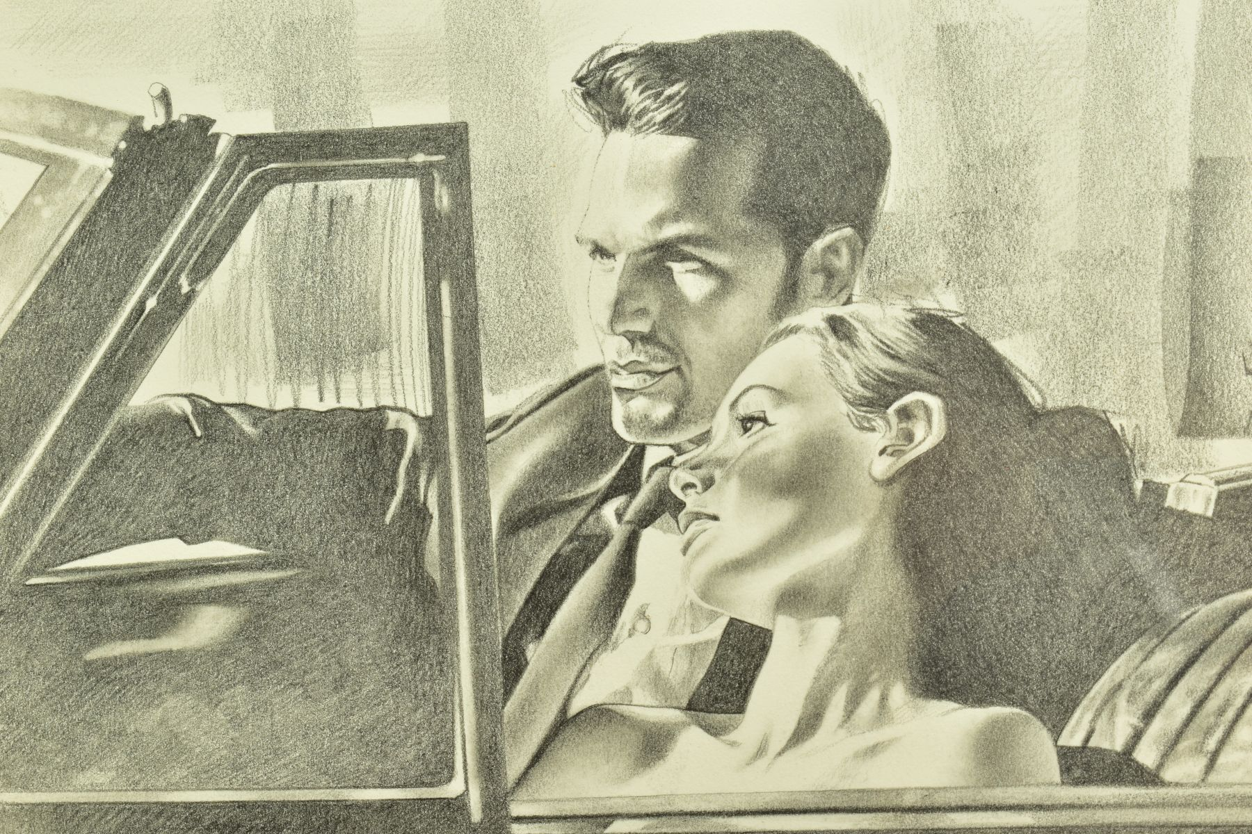 ROB HEFFERAN (BRITISH 1968), 'Study For Night and The City II', a charcoal sketch in preparation for - Image 3 of 9