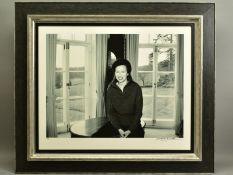 JOHN SWANNELL (BRITISH 1946), 'HRH The Princess Royal 2000 II', a giclee portrait of Princess Ann