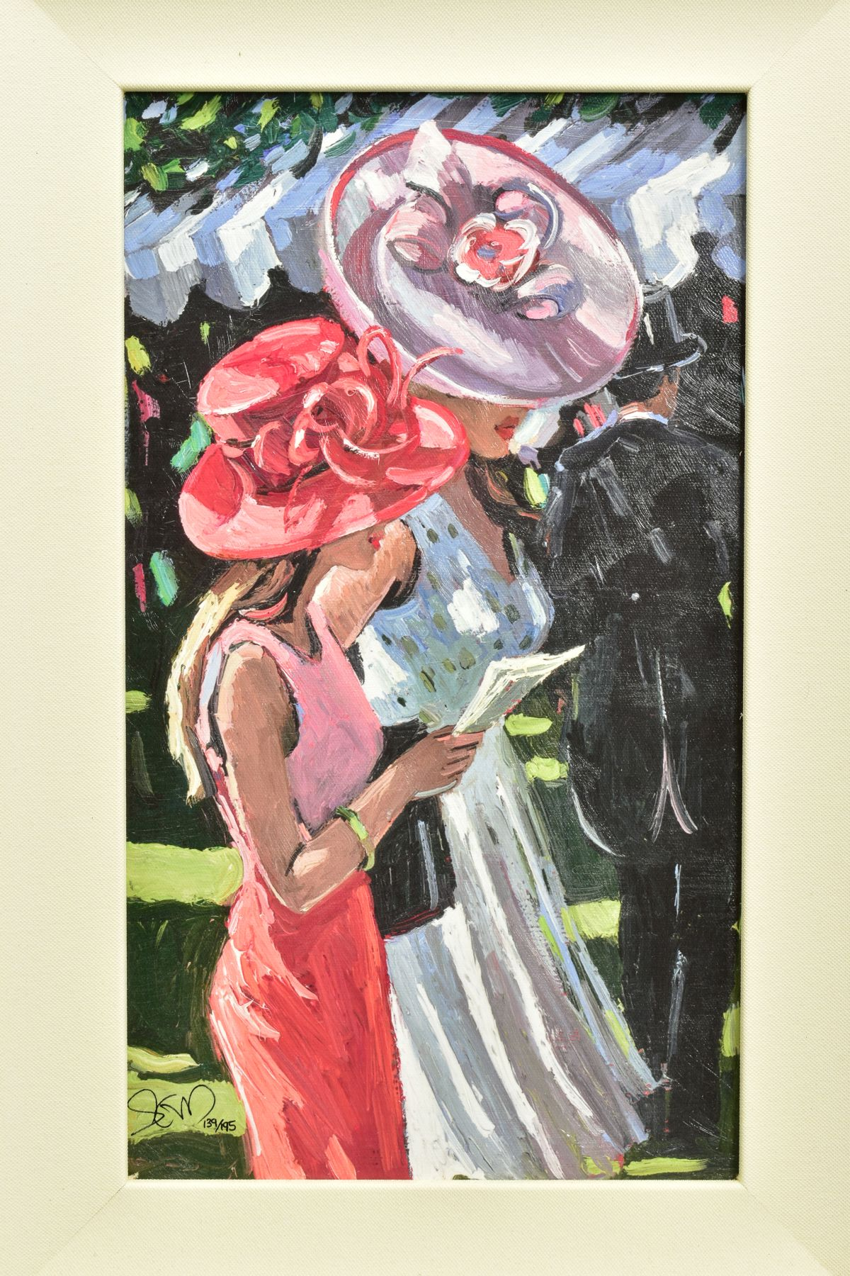 SHERREE VALENTINE DAINES (BRITISH 1959), 'Society Ladies', a Limited Edition print of female figures - Image 2 of 6