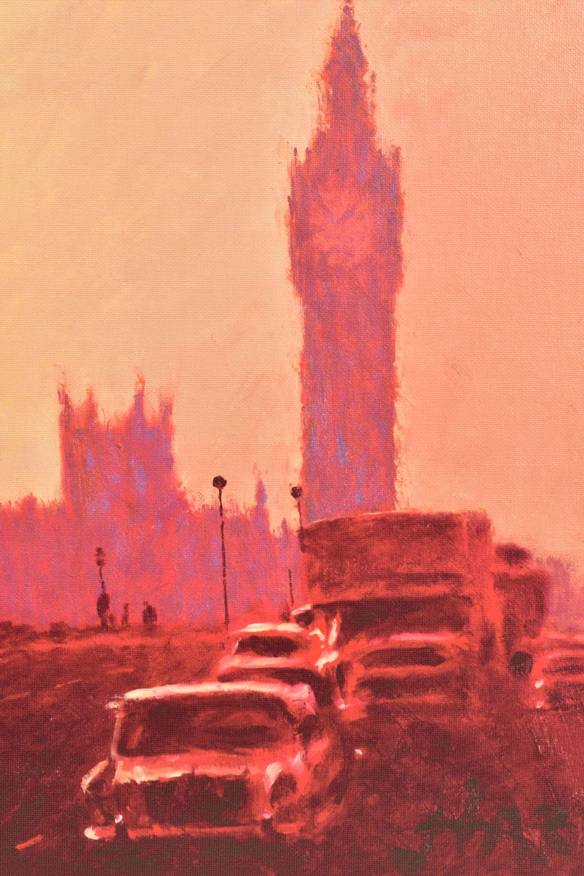 ROLF HARRIS (AUSTRALIAN 1930), 'Fifties Rush Hour', a Limited Edition print of a London skyline, - Image 2 of 6