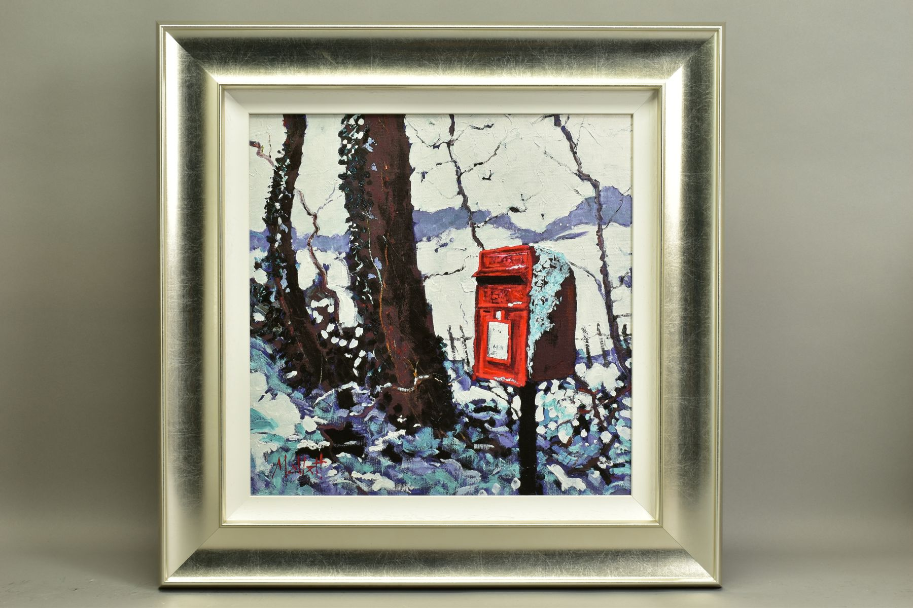 TIMMY MALLETT (BRITISH CONTEMPORARY), 'Snowy Post Box', a Limited Edition print, 26/195, signed