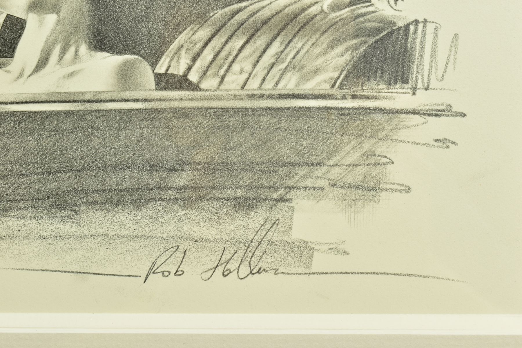 ROB HEFFERAN (BRITISH 1968), 'Study For Night and The City II', a charcoal sketch in preparation for - Image 4 of 9