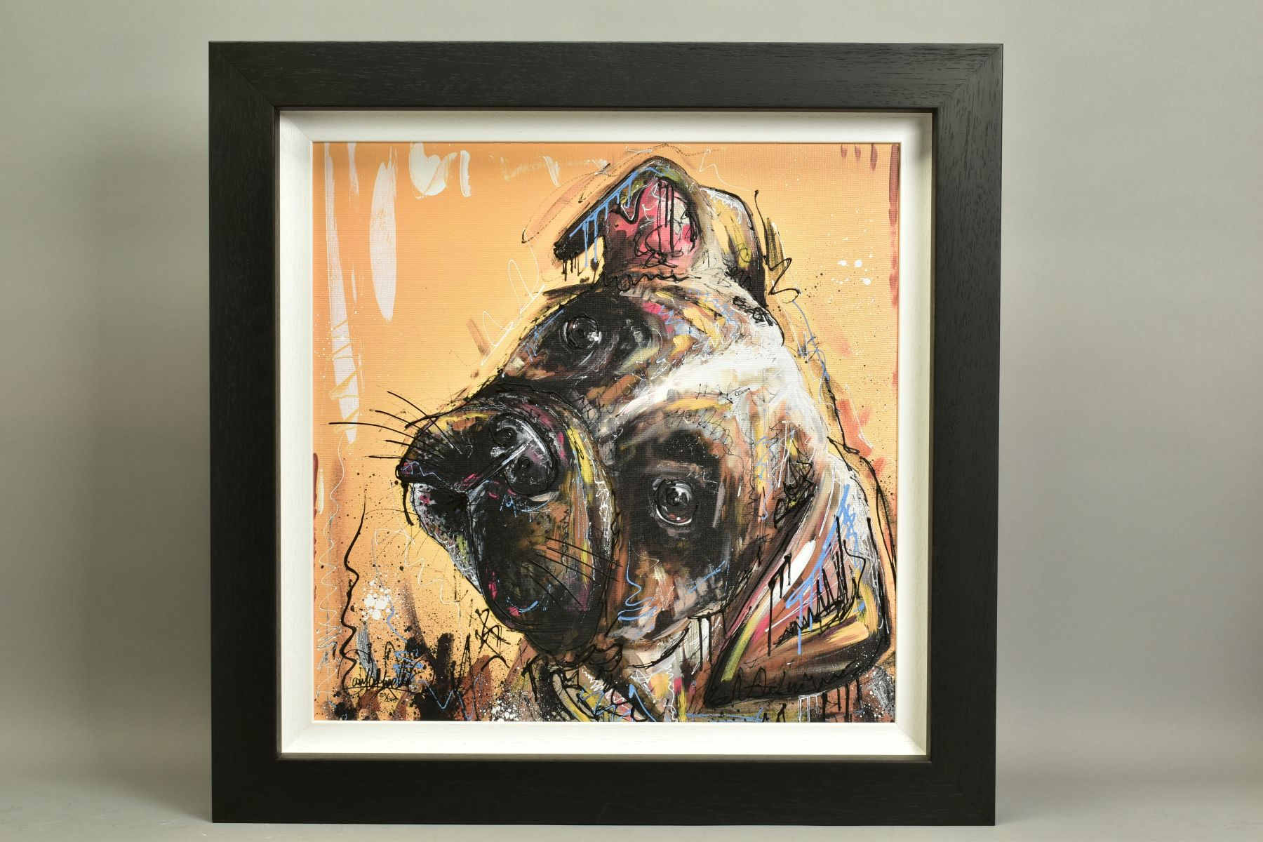 SAMANTHA ELLIS (BRITISH 1992), 'All Ears', a Limited Edition print of a small dog, signed bottom