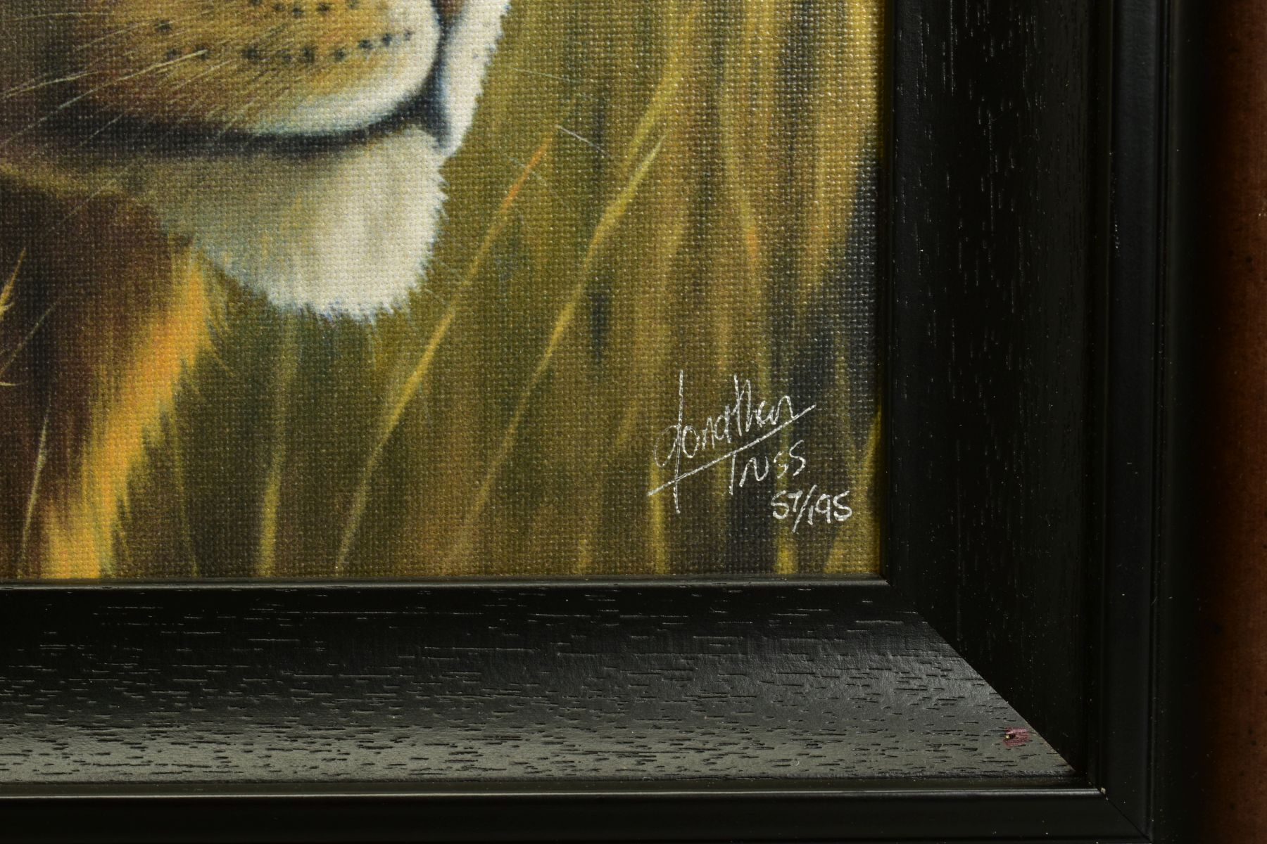 JONATHAN TRUSS (BRITISH 1960), 'Braveheart', a Limited Edition portrait of a Lion, signed bottom - Image 3 of 8