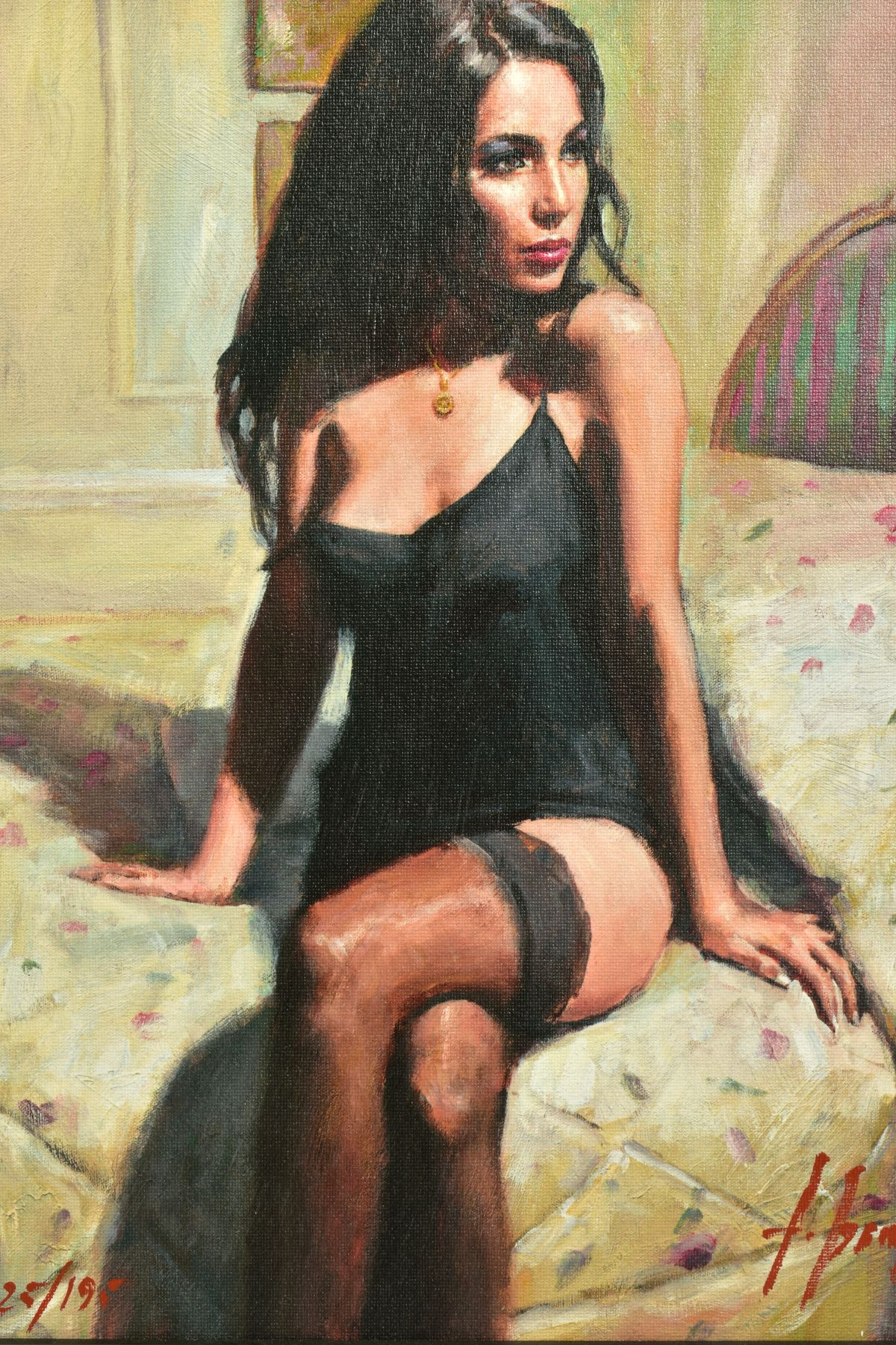 FABIAN PEREZ (ARGENTINA 1967), 'Kayleigh at The Ritz', a Limited Edition print of a female figure, - Image 2 of 8