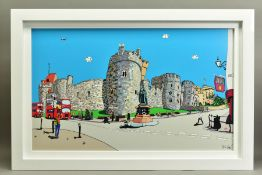 DYLAN IZAAK (BRITISH CONTEMPORARY), 'Queen of The Castle', a Limited Edition print of Windsor