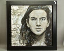 JEN ALLEN (BRITISH 1979), 'Eddie Vedder', a portrait of The Pearl Jam lead singer, signed bottom
