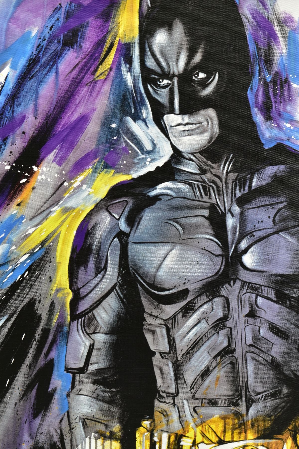 JEN ALLEN (BRITISH 1979), 'Silent Guardian', a Limited Edition print of Batman, 10/195, signed lower - Image 2 of 6