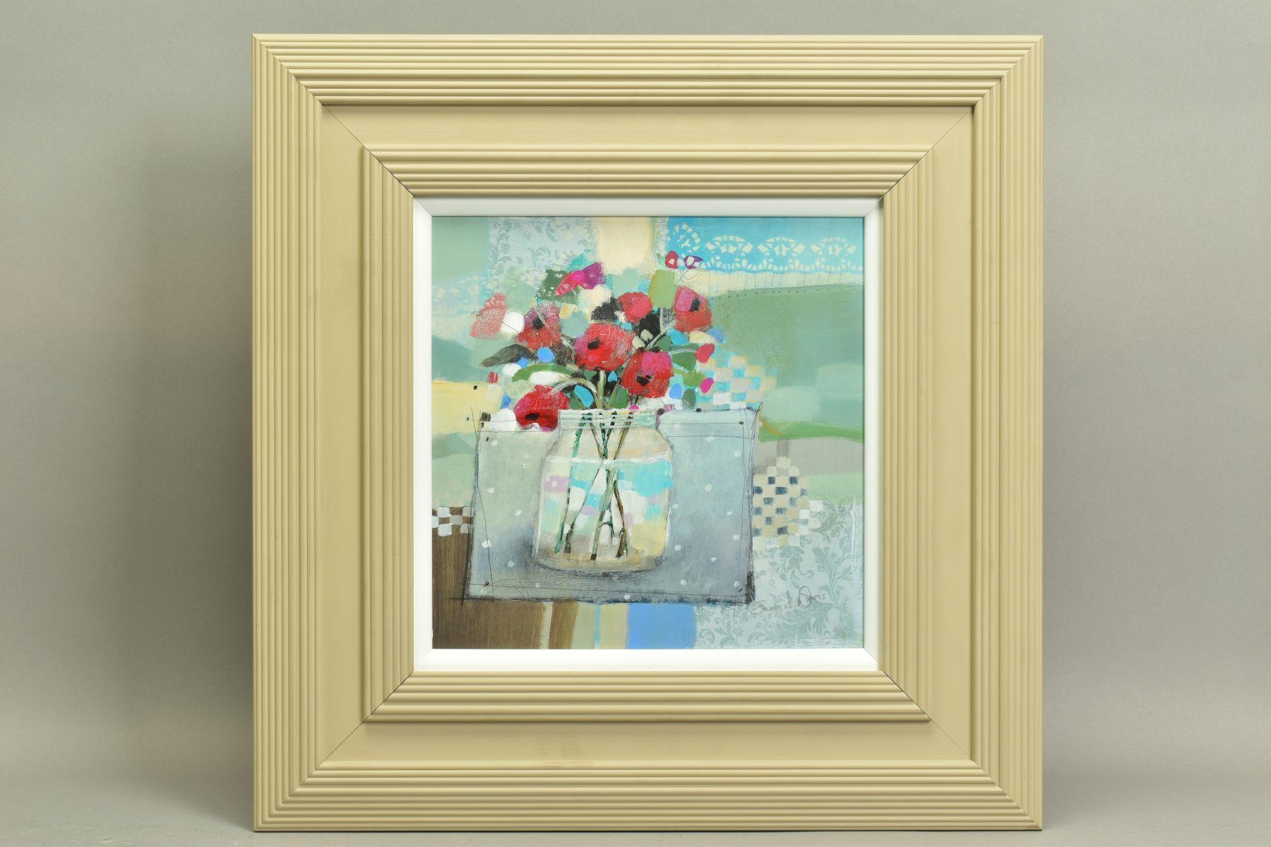 EMMA S. DAVIS (SCOTTISH 1975), 'Poppies in a Jar', a still life study of wild flowers, signed bottom