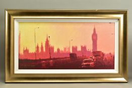 ROLF HARRIS (AUSTRALIAN 1930), 'Fifties Rush Hour', a Limited Edition print of a London skyline,