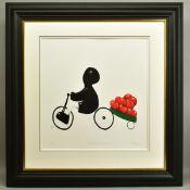 MACKENZIE THORPE (BRITISH 1956), 'A Load of Love', a Limited Edition print of a boy on a bike