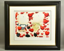 MACKENZIE THORPE (BRITISH 1956), 'Dancing In Love', a Limited Edition print of a couple surrounded