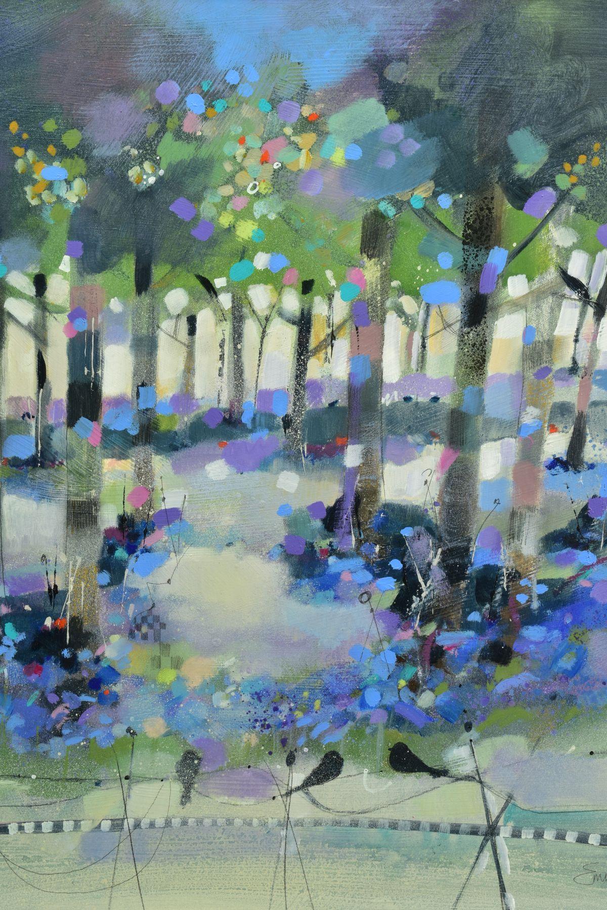 EMMA S. DAVIS (SCOTTISH 1975), 'Into The Woods', a colourful woodland landscape, signed bottom - Image 2 of 7