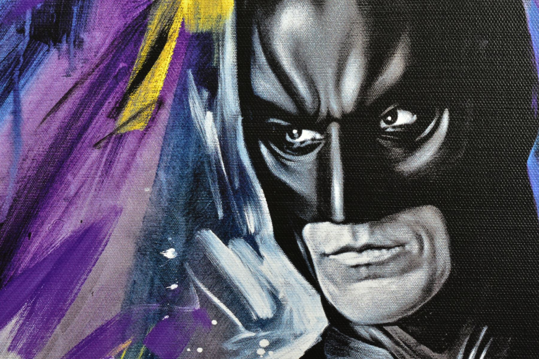 JEN ALLEN (BRITISH 1979), 'Silent Guardian', a Limited Edition print of Batman, 10/195, signed lower - Image 3 of 6