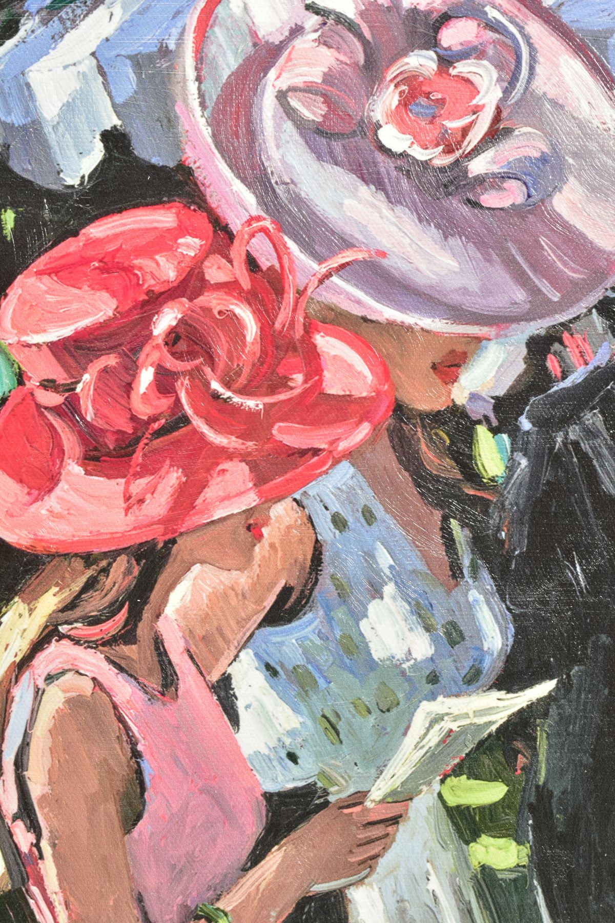SHERREE VALENTINE DAINES (BRITISH 1959), 'Society Ladies', a Limited Edition print of female figures - Image 3 of 6