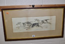 HUNTING RELATED PICTURES , comprising Henry Frederick Lucas - Lucas sketch of hunting dogs,