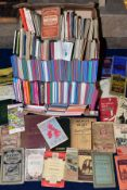 A BOX OF FOLDED MAPS, including Bacon's Map of Great Britain, Ordnance Survey, Philips, London bus
