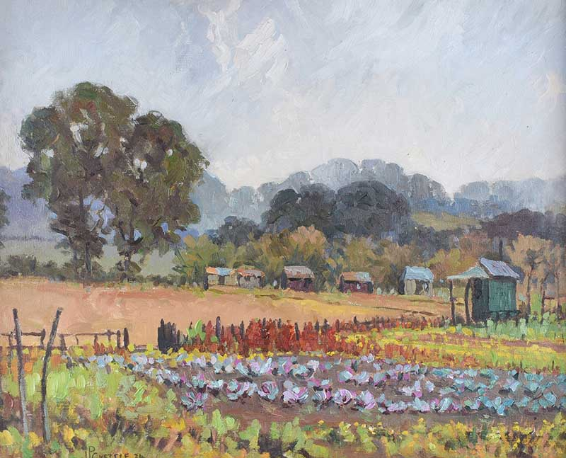 Lot 32 - James P. Chettle - THE CABBAGE PATCH - Oil on Canvas - 16 x 20 inches - Signed