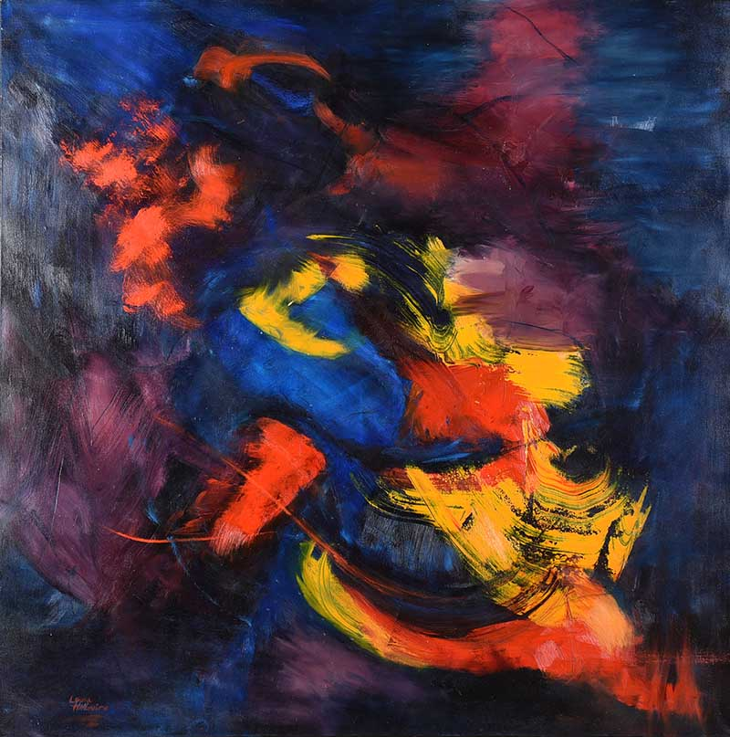 Lot 22 - Laura McGuire - ABSTRACT II - Oil on Canvas - 72 x 72 inches - Signed