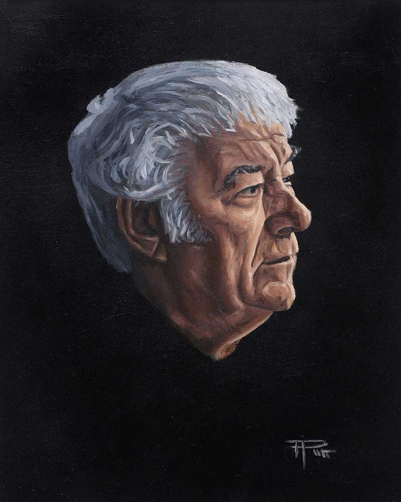 Lot 45 - Thomas Putt - SEAMUS HEANEY - Oil on Board - 12 x 10 inches - Signed