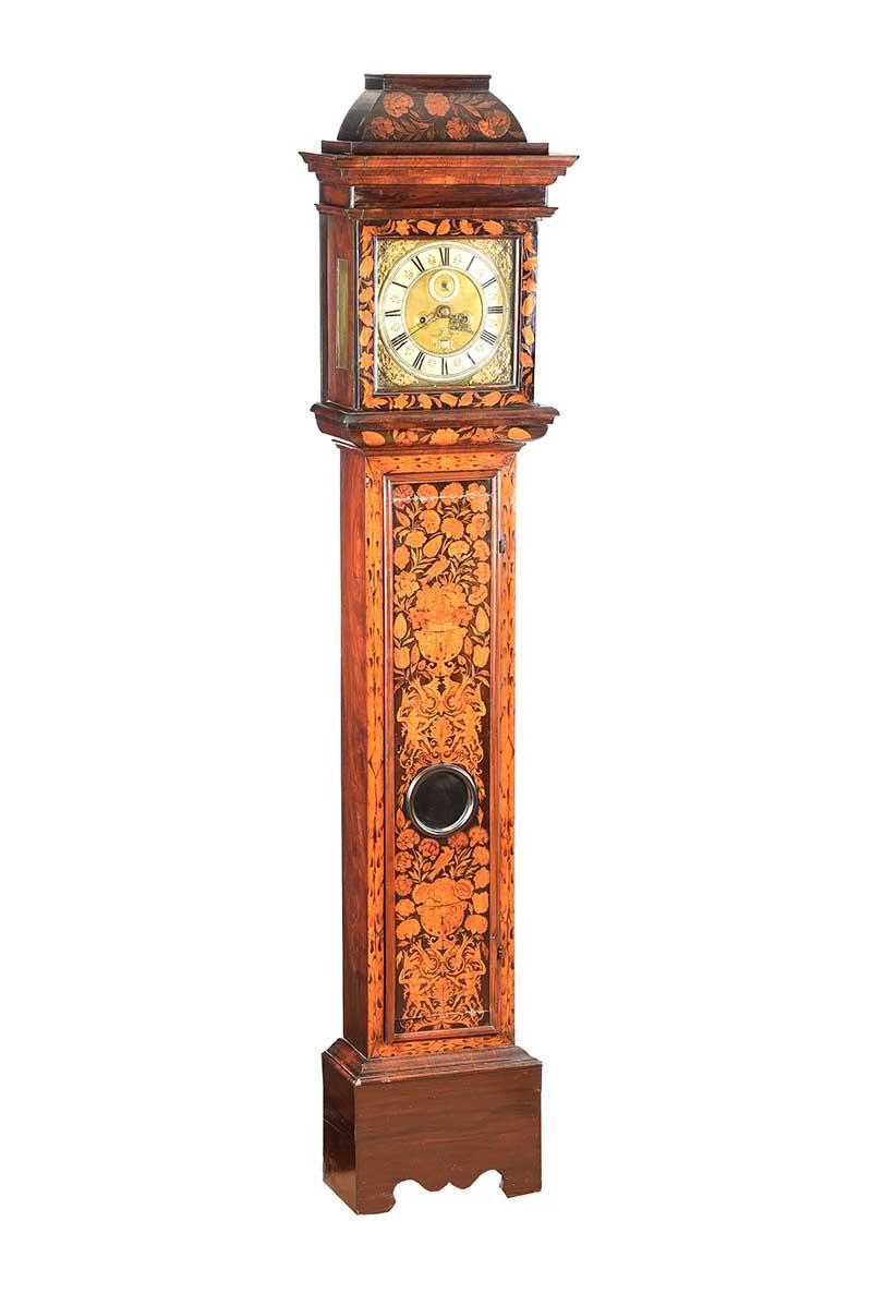 Lot 25 - EIGHTEENTH CENTURY MARQUETRY LONG CASE CLOCK