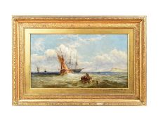 GILT FRAMED OIL PAINTING - JAS E. MEADOWS