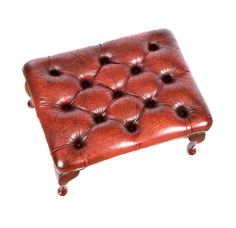 Lot 59 - LEATHER FOOTSTOOL