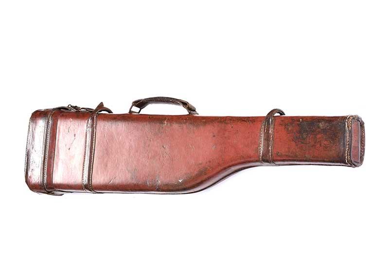 Lot 45 - ANTIQUE LEATHER GUN CASE