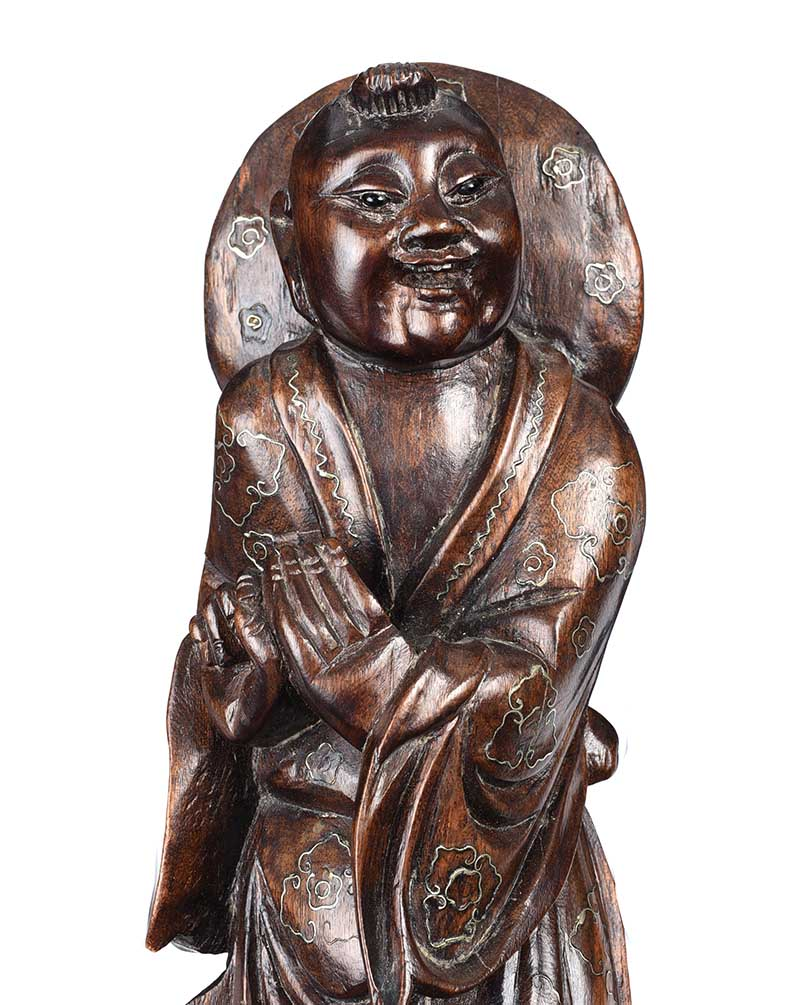 Lot 29 - CHINESE CARVED FIGURE