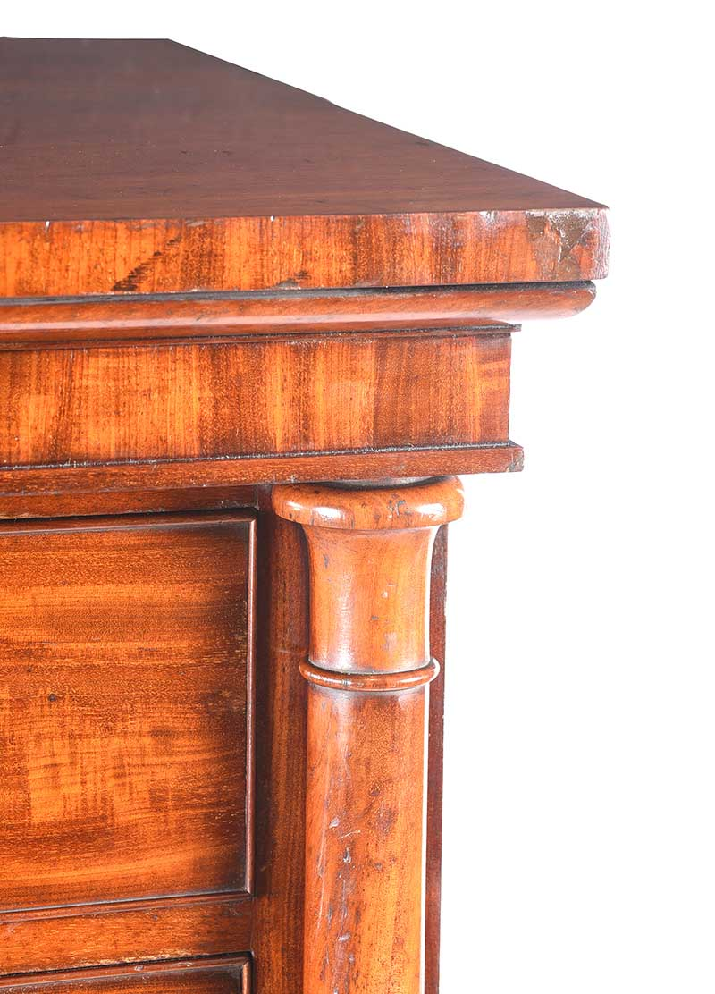 Lot 35 - WILLIAM IV MAHOGANY CHEST OF DRAWERS