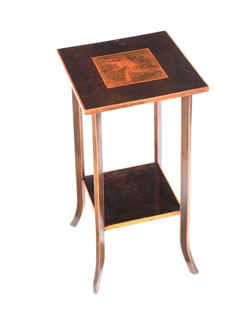 Lot 28 - ARTS & CRAFTS LAMP TABLE