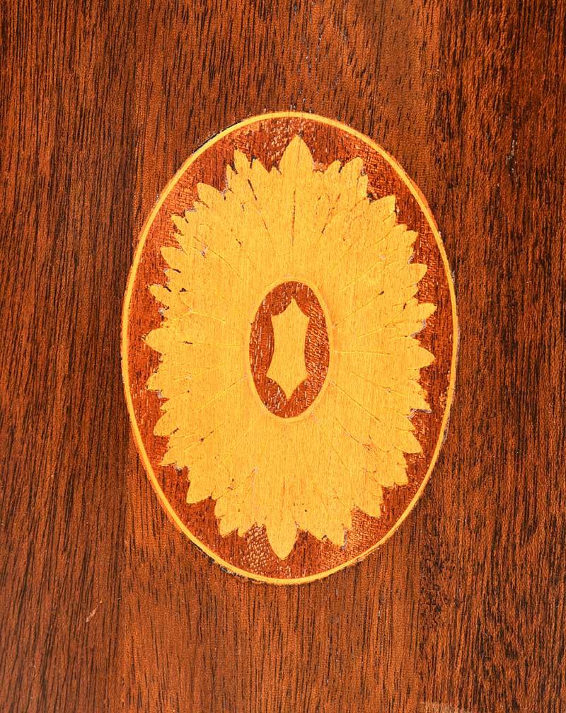 Lot 8 - NINETEENTH CENTURY BOW FRONT CORNER CABINET
