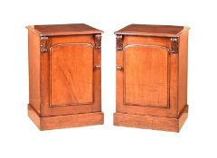 PAIR OF WILLIAM IV BEDSIDE PEDESTALS