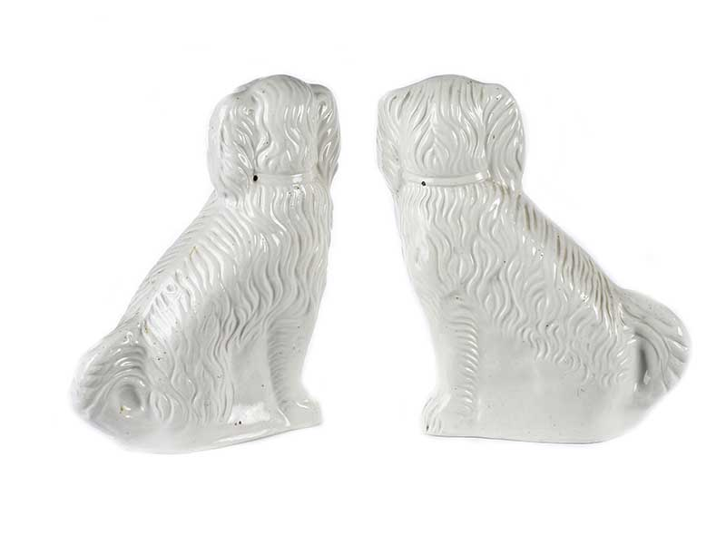 Lot 37 - PAIR OF VICTORIAN STAFFORDSHIRE DOGS