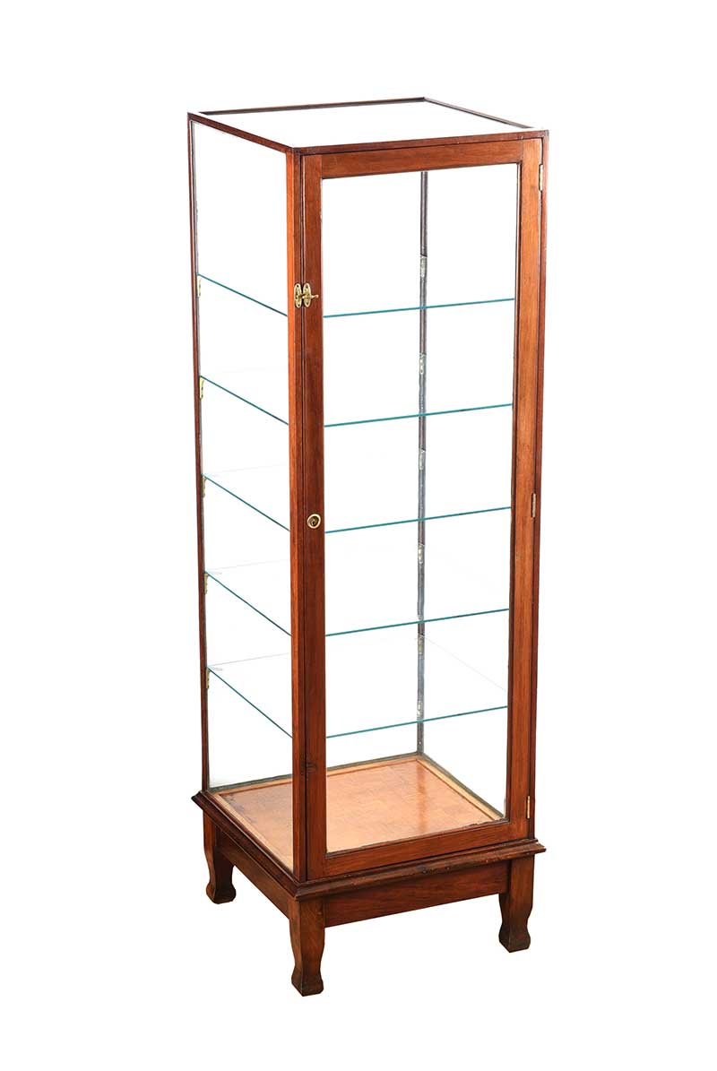 Lot 33 - NINETEEN THIRTIES GLASS DISPLAY CASE