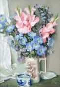Henry Robertson Craig, RHA - STILL LIFE, FLOWERS IN A VASE - Oil on Canvas - 28 x 20 inches -