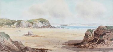 Rowland Hill, RUA - MARBLE HILL, DONEGAL - Watercolour Drawing - 10 x 20 inches - Signed