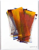Ciaran Lennon - ARBITRARY COLOUR COLLECTION - Acrylic on Hand Made Paper - 30 x 23 inches - Signed