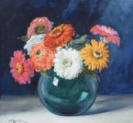 Wycliffe Egginton, RI RCA - STILL LIFE, FLOWERS IN A VASE - Watercolour Drawing - 13 x 13 inches -