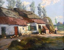 Lilian Lucy Davidson, ARHA - A SUMMER NIGHT - Oil on Board - 11 x 14 inches - Signed