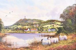 William Yeaman - SHEEP AT KILTONGA NATURE RESERVE, COUNTY DOWN - Oil on Canvas - 20 x 30 inches -