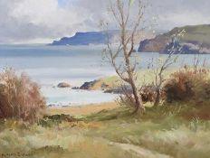 Maurice Canning Wilks, ARHA RUA - CUSHENDUN BAY, COUNTY ANTRIM - Oil on Canvas - 14 x 18 inches -
