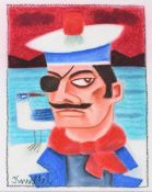Graham Knuttel - SAILOR - Mixed Media - 18 x 14 inches - Signed