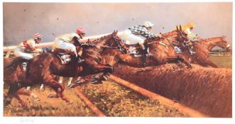 Peter Curling - TWO MILE CHASERS - Limited Edition Coloured Print (102/500) - 18 x 24 inches -
