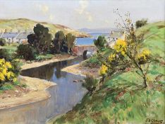 James Humbert Craig, RHA RUA - EARLY JUNE, CUSHENDUN, COUNTY ANTRIM - Oil on Canvas - 15 x 20 inches